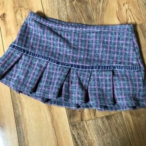Toddler Girls Flannel Skirt-Size XS 4/5
